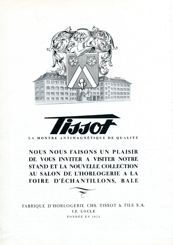 Vintage 1943 Tissot Watch Company Switzerland 1940s Swiss Print Ad Suisse Suiza