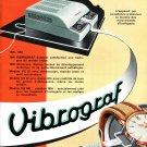 Vintage 1954 Vibrograf Switzerland 1950s Swiss Print Ad Advert Reno Le Porte Echappement