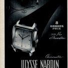 Vintage 1954 Ulysse Nardin Watch Company Switzerland 1950s Swiss Print Ad Suisse