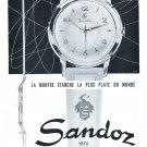 Vintage 1954 Sandoz Watch Company Henry Sandoz & Fils Switzerland 1950s Swiss Print Ad
