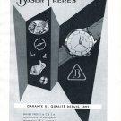 Vintage 1954 Buser Freres Watch Company Switzerland 1950s Swiss Print Ad Suisse
