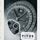 Vintage 1943 Titus Calendrier Watch Advert Solvil SA Switzerland 1940s Swiss Print Ad