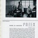 Vintage 1943 Dans La Maison Patek Philippe & Co Watch Company Geneva Switzerland 1940s