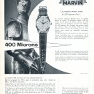 Vintage 1954 Marvin 400 Microns Watch Advert Swiss Print Ad Switzerland Marvin Watch Company
