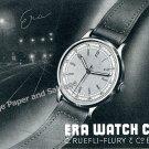 1943 Era Watch Company C Ruefli-Flury & Co Switzerland Vintage 1940s Swiss Ad