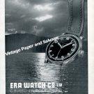 Vintage 1942 Era Watch Company C Ruefli-Flury & Co Switzerland 1940s Swiss Advert Suisse