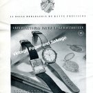 Vintage 1943 IWC International Watch Company E Homberger Rauschenbach Swiss Print Ad Advert 1940s