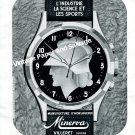 Vintage 1943 Minerva Watch Company 85 Years of Quality 1940s Swiss Print Ad Suisse Switzerland