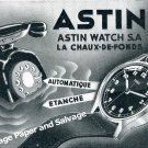 Vintage 1943 Astin Watch Company Switzerland 1940s Swiss Print Ad Advert Suisse CH