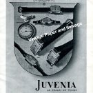 Vintage 1943 Juvenia Watch Company Switzerland 1940s Swiss Print Ad Advert Suisse