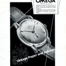 Vintage 1943 Omega Watch Company Switzerland Original 1940s Swiss Print Ad Advert Suisse CH