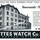Vintage 1942 Buttes Watch Co SA Switzerland 1940s Swiss Print Ad Advert Suisse Schweiz