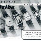 Vintage 1942 Delba Watch Company Grenchen Switzerland 1940s Swiss Print Ad Advert Suisse