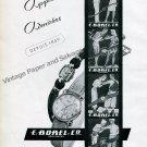 Vintage 1945 E Borel Co Watch Company Ernest Borel Switzerand Swiss Print Ad Advert Suisse