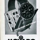 Vintage 1945 Movado Calendograf Watch Advert 1940s Swiss Print Ad Suisse Schweiz