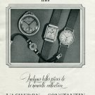 Vintage 1940 Vacheron & Constantin Watch Company Switzerland Swiss Print Ad Suisse