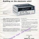 Vintage 1968 G Leon Breitling Breitling Electrosplit Timer Advert Swiss Print Ad Horology