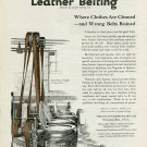 Vintage 1920 Graton & Knight Worcester MA Neptune Spartan Leather Laundry Belts Print Ad Advert