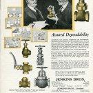 Vintage 1920 Jenkins Bros Jenkins Valves Plumbing Heating Print Ad Advert