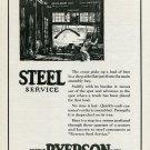 1920 Ryerson Steel Service Joseph T Ryerson & Son Chicago Detroit St Louis Buffalo Print Ad Advert