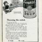 1920 Campbell's Soup Throwing the Switch to Health & Cheer Railroad Print Ad Camden NJ