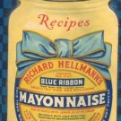 1926 Hellmann's Blue Ribbon Mayonnaise Richard Hellmann Mayo Hangable Calendar Long Island City