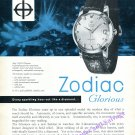 Zodiac Glorious Watch Advert Precision in Modern Style Vintage 1960 Swiss Print Ad Advert