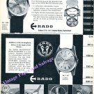 Rado Starliner Watch Advert Water Sealed Schlup & Co Switzerland Vintage 1960 Swiss Print Ad Suisse