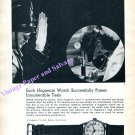 Huguenin Watch Company Switzerland Passes Innumerable Tests Vintage 1960 Swiss Print Ad