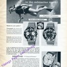 Breitling Submarine World SuperOcean TransOcean Watch Advert Vintage 1960 Swiss Print Ad