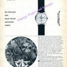 Vintage 1960 Buren Super Slender Automatic Watch Advert 1960 Swiss Print Ad Switzerland