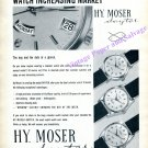 Vintage 1960 Hy Moser Dayter Watch Advert Swiss Print Ad H Moser & Cie SA Switzerland