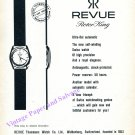 Vintage 1960 Revue Rotor King Watch Advert Thommen SA Revue Thommens Watch Co Swiss Ad