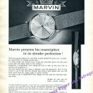 Vintage 1960 Marvin Watch Company Marvin Presents His Masterpiece Swiss Print Ad Suisse