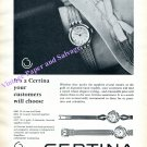 Vintage 1960 Certina Watch Company Kurth Freres SA Grenchen Switzerland Swiss Print Ad