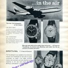 Vintage 1960 Breitling TransOcean Navitimer Chronomat Watch Advert Aviation Air Pilot Swiss Print Ad