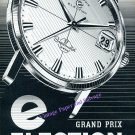 Vintage 1960 Election Supermatic Grand Prix Watch Advert Swiss Print Ad Suisse