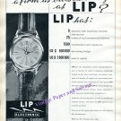Vintage 1960 Lip Watch Company Switzerland Outstanding Firm 1960 Swiss Print Ad Suisse