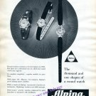 Vintage 1960 Alpina Watch Company Alpina Union Horlogere Switzerland Swiss Print Ad Advert Suisse