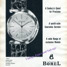 Vintage 1960 Ernest Borel Watch Company A Century's Quest for Precision Swiss Print Ad Switzerland