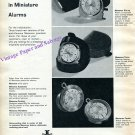 Vintage 1960 Jaeger-LeCoultre Memovox Miniature Alarms Clock Watch Advert Swiss Print Ad Switzerland