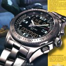 Breitling Instruments for Professionals Aviation 2001 Ad Magazine Advertisement