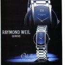 Raymond Weil Watch Company Geneve 2001 Othello Watch Ad Magazine Advertisement