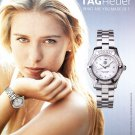 Tag Heuer Aquaracer Diamonds Watch Advert Maria Sharapova Magazine Advertisement