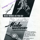 1946 Mido Multifort Superautomatic Watch Advert Winds As You Go Swiss Print Ad