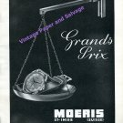 1946 Moeris Watch Company Grands Prix St-Imier Switzrland Vintage Swiss Print Ad