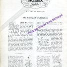 1946 Rolex Mercedes Gleitze The Testing of a Champion Rolex Watch Co Swiss Print Ad