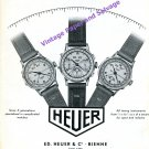 1949 Heuer Watch Company Ed. Heuer & Co Chronographs and Timers Vintage 1940s Swiss Print Ad