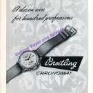 1949 Breitling Chronomat Watch Advert A Dozen Uses for Hundred Professions 1940s Swiss Print Ad