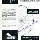 1949 Jaeger-LeCoultre Highest Accuracy Awards Neuchatel Observatory Swiss Print Ad Advert